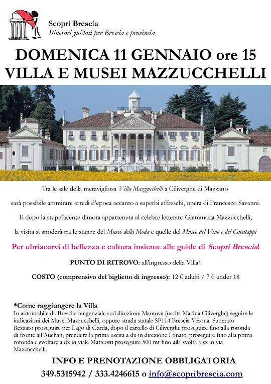 Villa Mazzucchelli con Scopri Brescia