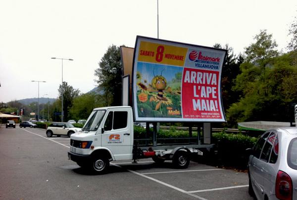 vele su camion per pubb fissa e mobile