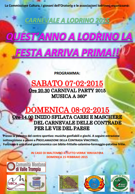 Carnevale 2015 a Lodrino