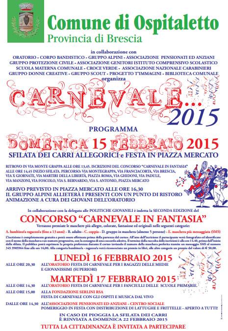 Carnevale 2015 a Ospitaletto