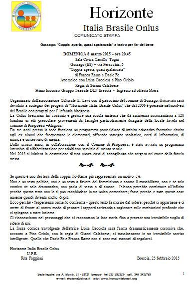 Coppia Aperta Quasi Spalancata a Brescia