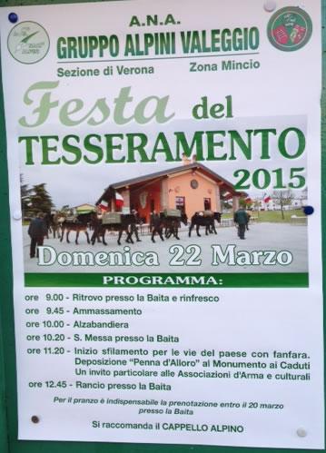 Festa del Tesseramento Alpino a Valeggio SM (VR)