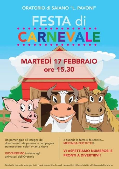Festa di Carnevale 2015 a Saiano