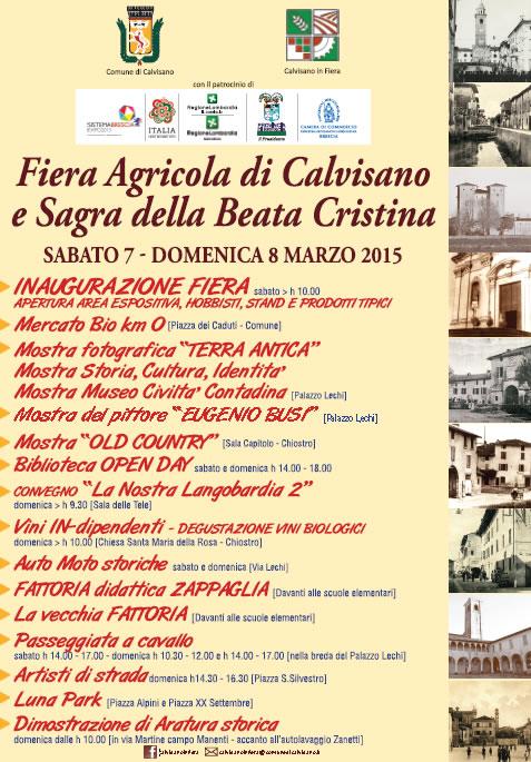 Fiera Agricola di Calvisano e Sagra della Beata Cristina 2015