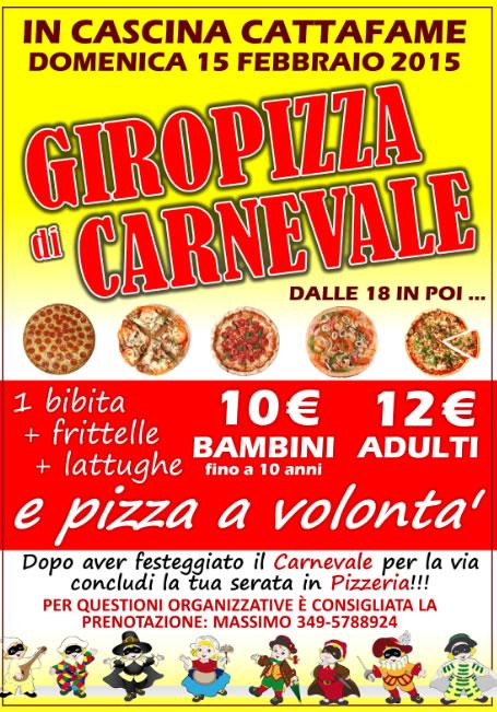 Giropizza di Carnevale a Ospitaletto