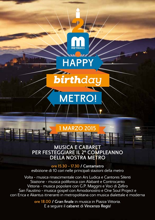 Happy birthday Metro 2015 Brescia