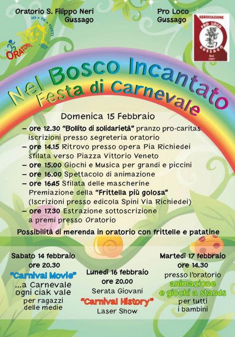 Nel Bosco Incantato Festa di Carnevale 2015 a Gussago