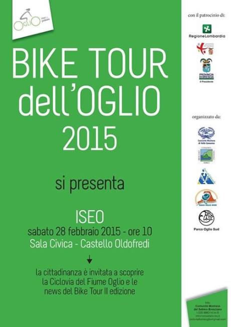 Presentazione Bike Tour dell'Oglio a Iseo
