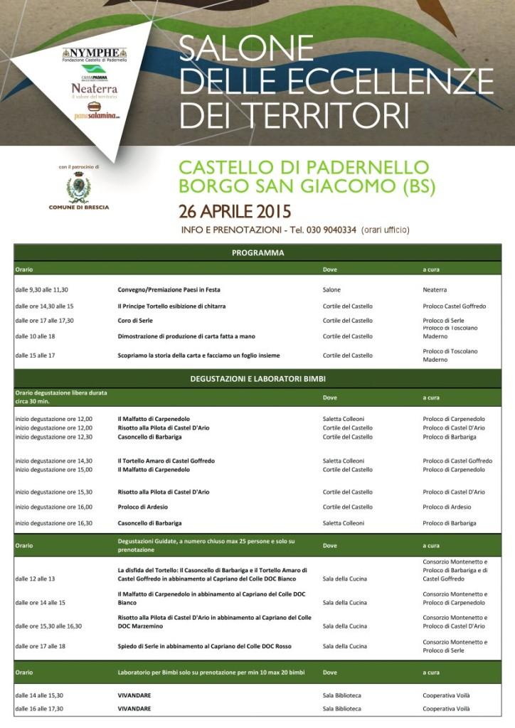 Programma Degustazioni Salone