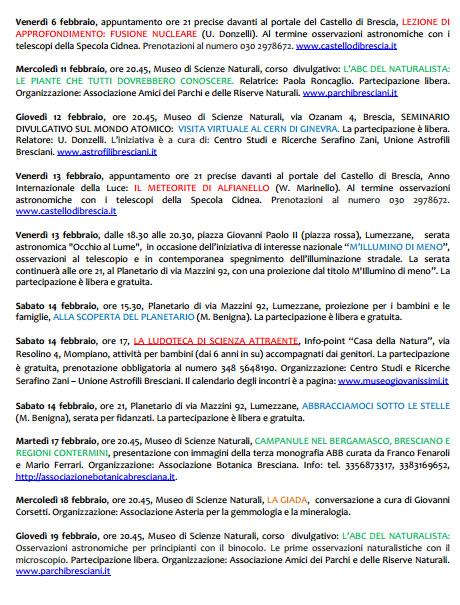 Scienza per Tutti a Brescia