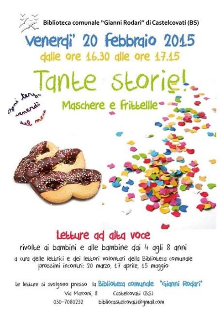 Tante Storie Maschere e Frittelle a Castelcovati