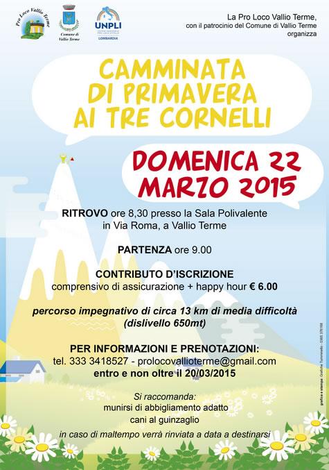 Camminata di Primavera ai 3 Cornelli a Vallio Terme
