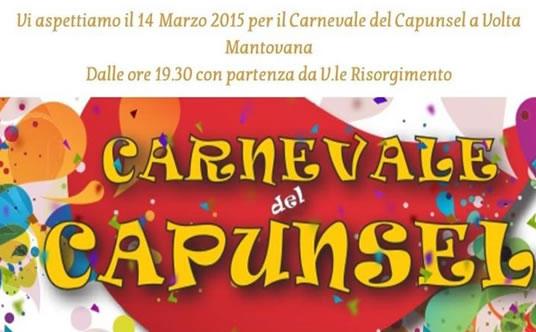 Carnevale del Capunsel 2015 a Volta Mantovana