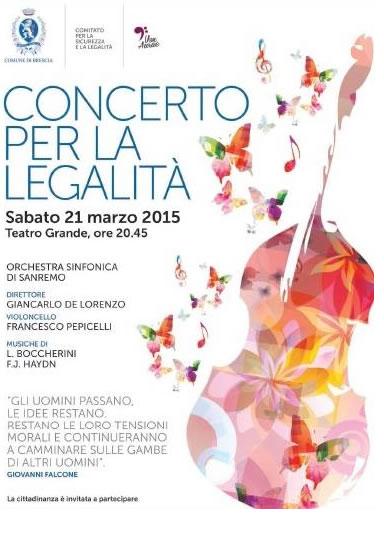 Concerto per la Legalità a Brescia