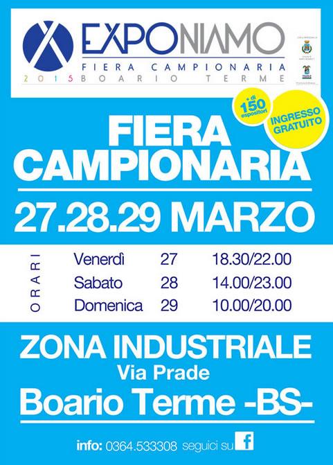 Fiera Campionaria 2015 a Darfo Boario Terme