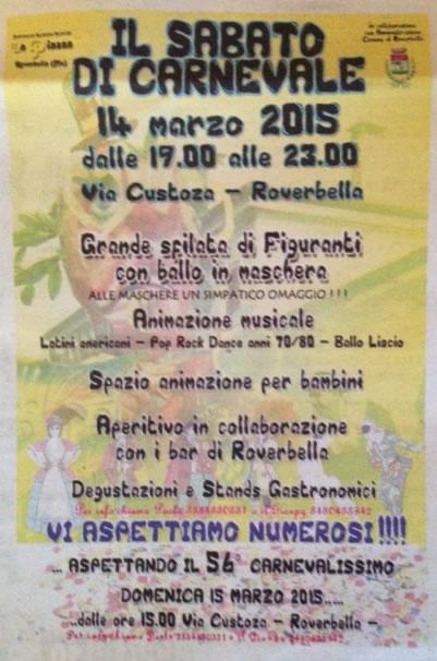 Il Sabato di Carnevale a Roverbella MN