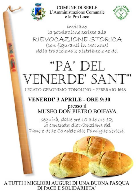 Pa del Venerde Sant 2015 a Serle
