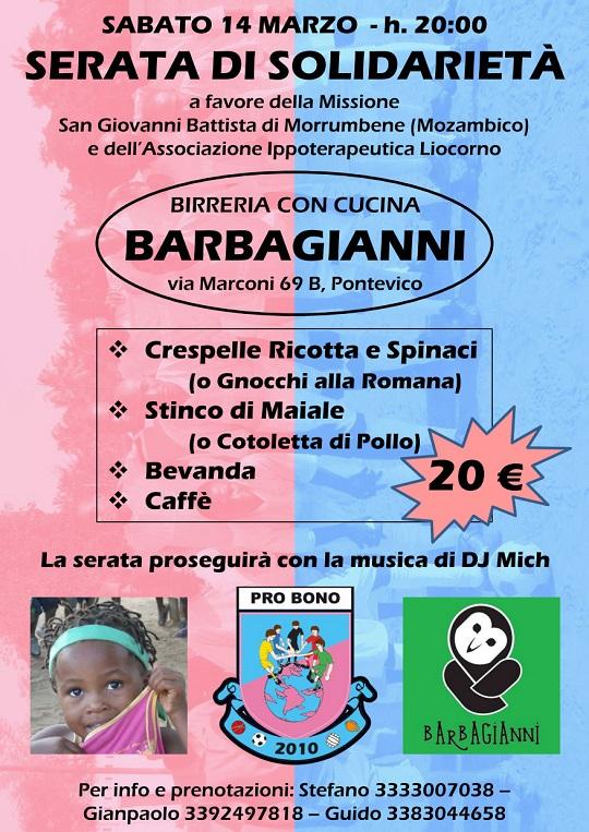 Serata di Solidarietà Pro Bono 2015 Pontevico