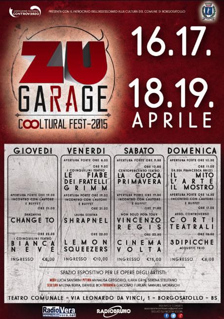 ZU Garage Cooltural Fest 2015 a Borgosatollo