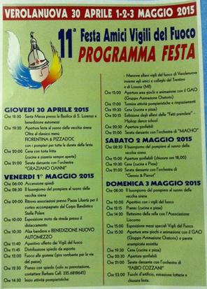 11 Festa Amici Vigili del Fuoco di Verolanuova
