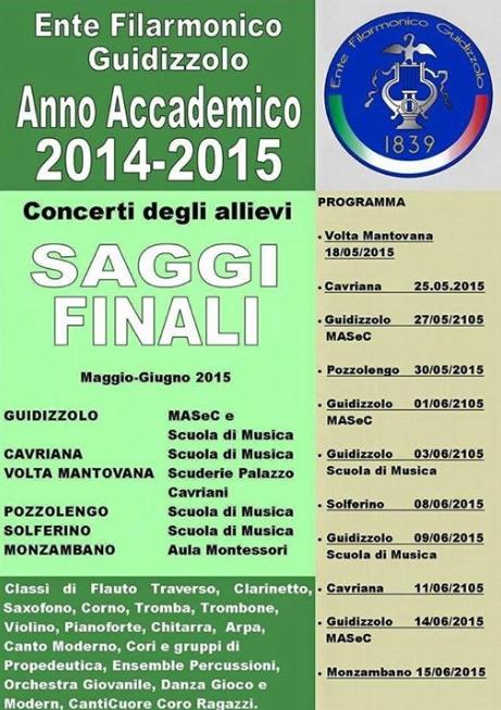 Concerti Allievi Ente Filarmonico Guidizzolo