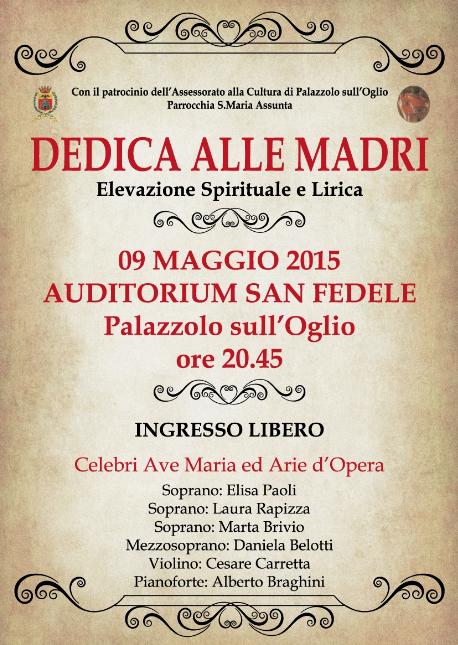 Concerto Dedica alle Madri a Palazzolo sO