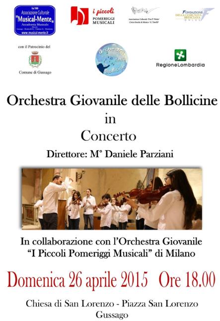Concerto Orchestra Giovanile delle Bollicine a Gussago
