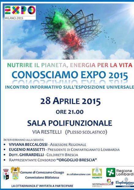 Conosciamo Expo 2015 a Comezzano Cizzago