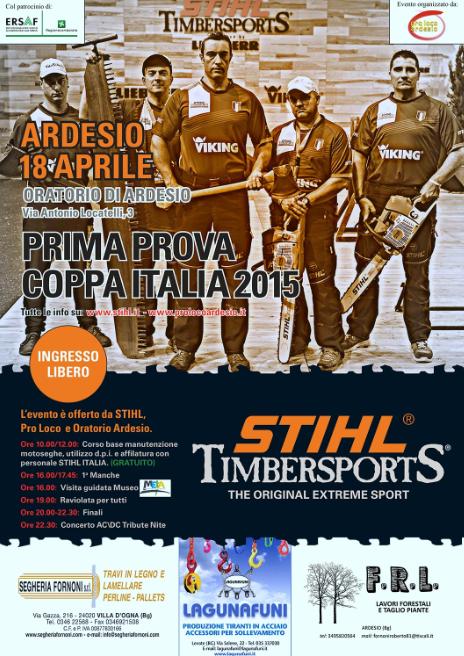 Festa del Boscaiolo e 1 Prova Coppa Italia Stihl Timesports ad Ardesio BG
