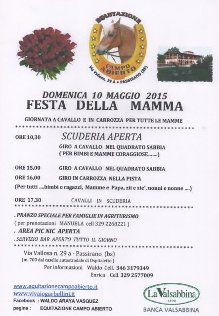 Festa della Mamma in Carrozza a Passirano