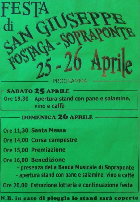 Festa di San Giuseppe 2015 a Gavardo