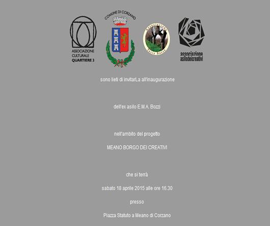 Inaugurazione EX Asilo E.M.A. Bozzi a Corzano