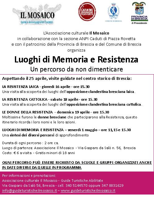 Luoghi di Memoria e Resistenza a Brescia