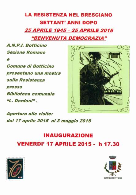 Mostra La Resistenza nel Bresciano a Botticino