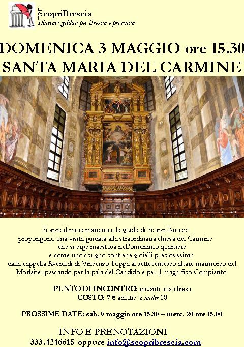 Santa Maria del Carmine con Scopri Brescia