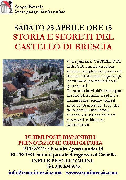 Storia e Segreti del Castello di Brescia con Scopri Brescia