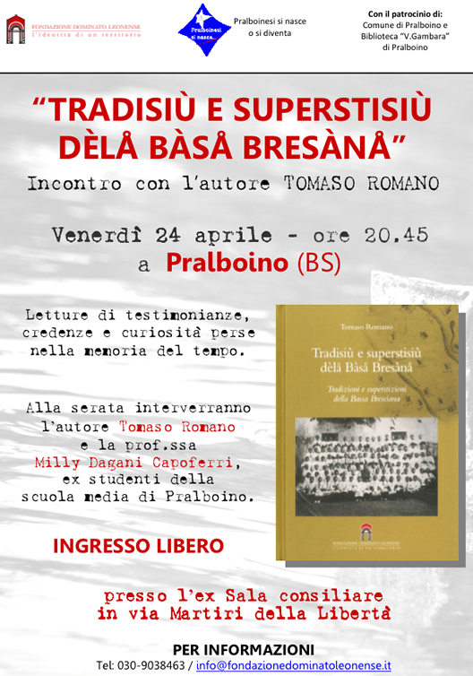 Tradisiù e superstisiù déla Bàsa Bresàna a Pralboino