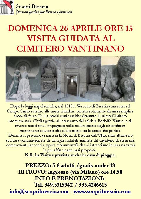Visita Guidata al Cimitero Vantiniano con Scopri Brescia