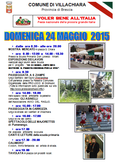 Voler Bene All'Italia 2015  Villachiara
