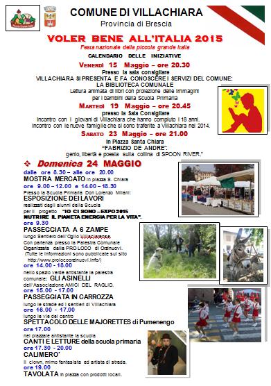 Voler Bene All'Italia 2015 a Villachiara