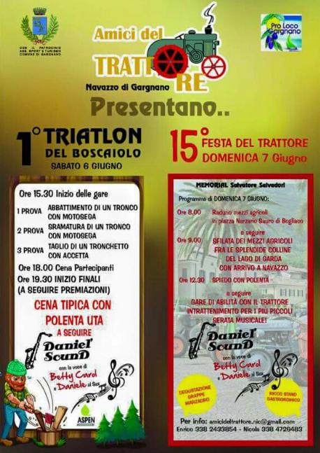 15 Festa del Trattore 1° Triatlon del Boscaiolo a Navazzo di Gargnano