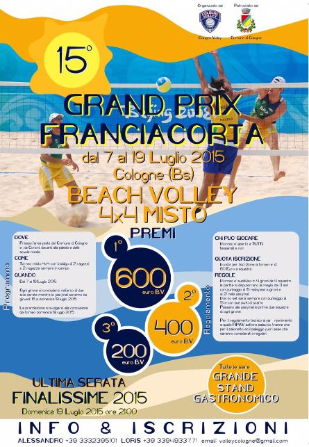 15 Grand Prix Franciacorta a Cologne