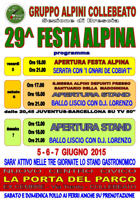 29 Festa Alpina Collebeato