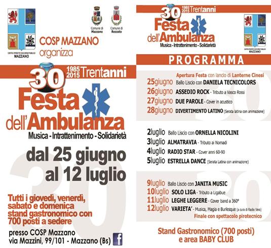 30 Festa Ambulanza Mazzano
