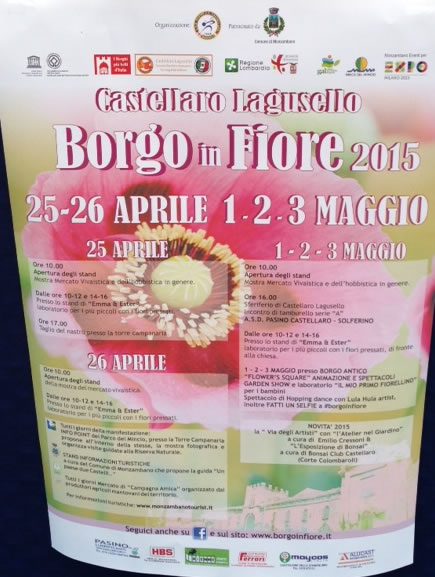 Borgo In Fiore 2015 a Castellaro Lagusello MN