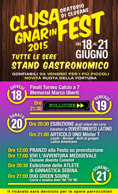 ClusaGnarinFest 2015 a Clusane d'Iseo