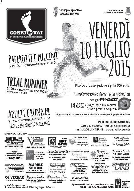 Corri e Vai 2015 a Vallio Terme