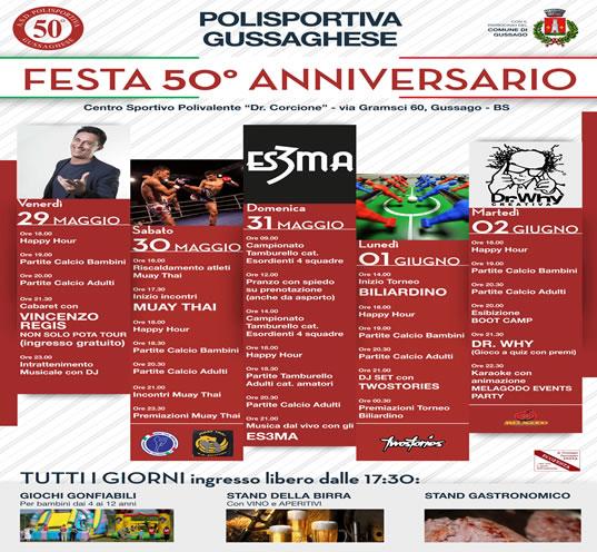 Festa 50° Anniversario Polisportiva Gussaghese