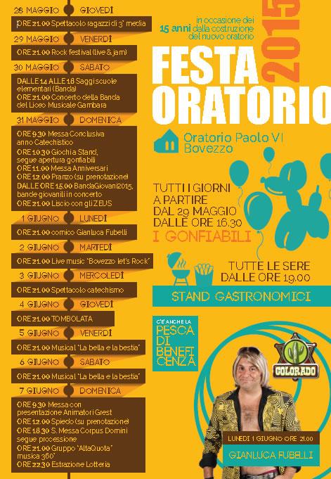 Festa Oratorio 2015 a Bovezzo