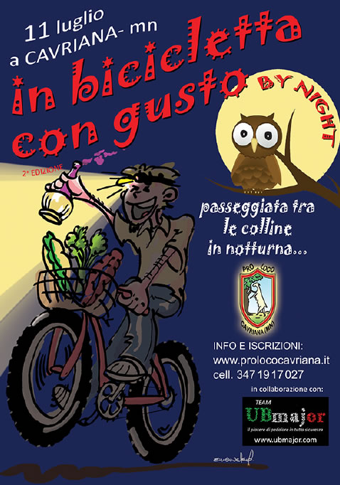 In Bicicletta con Gusto BY NIGHT a Cavriana MN